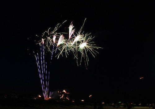 Fireworks over Wareham