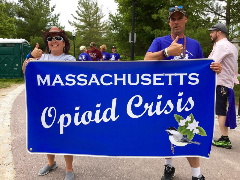 """Walkers at the """"Turn the Tide"""" event at Buttonwood Park in New Bedford."""