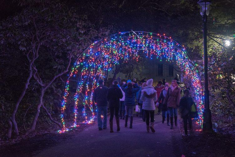 Thhis weekend the holiday lights come on at Heritage Museums and Gardens