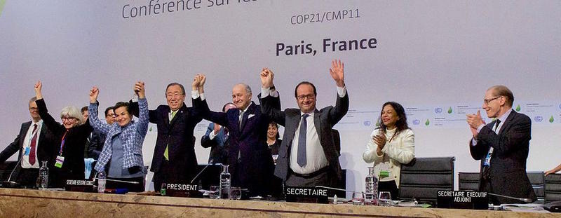 Leading diplomats celebrated the signing of the Paris Agreement last December. This year's negotiations begin today in Marakech, Morocco.