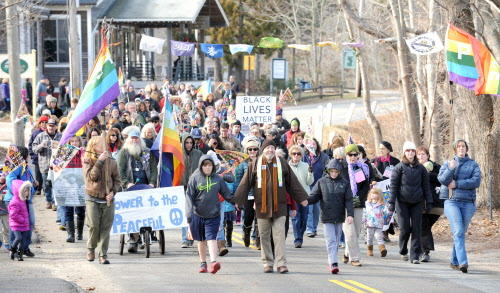 Wellfleet marks the Martin Luther King Jr. holiday with a silent march. This photo of the march from 2015.