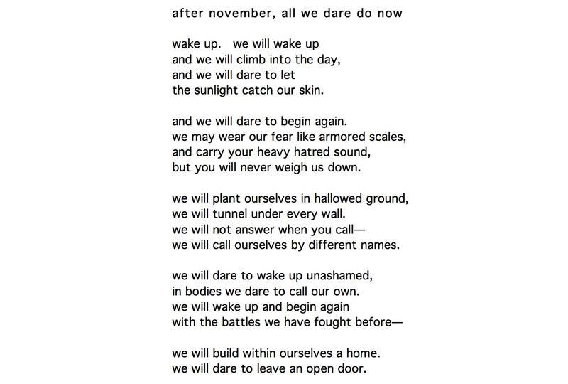 Poetry Sunday Michaela Coplen Wcai