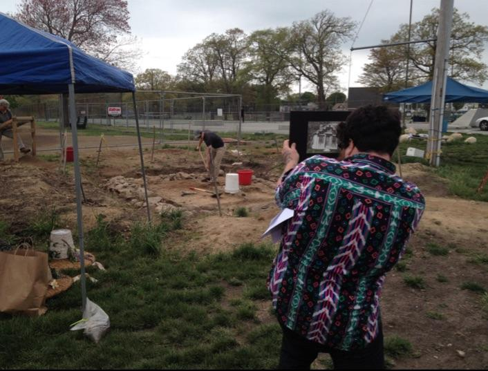 Sam Rousseau (left) and Eric Johnson (right) digging up Shanty foundation. Worked was performed on weekends over the course of two years.