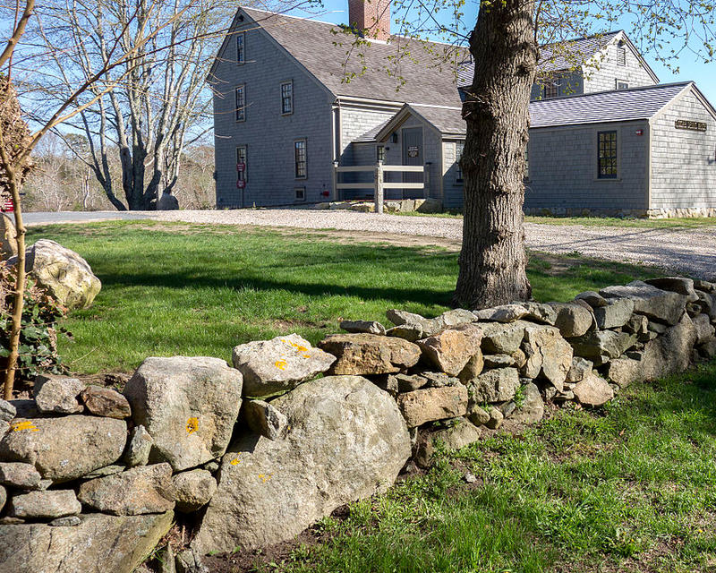 Stone wall at the historic Josiah Dennis house in Dennis.