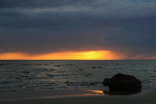 Sunset over Buzzard's Bay.