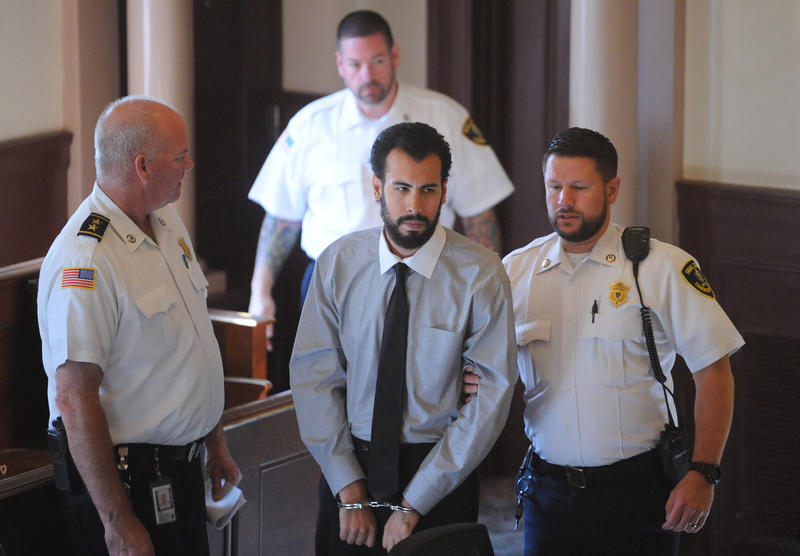 Adrian Loya at his trial in Barnstable Superior Court