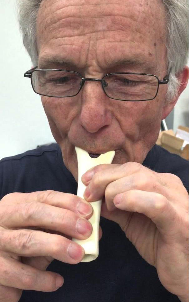 Jelle Atema will play replicas of ancient bear bone flutes at concerts on Cape Cod.