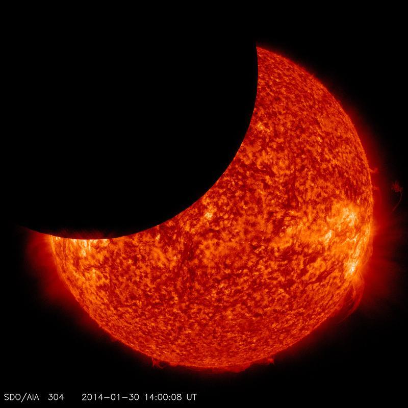 NASA's SDO Sees Lunar Transit across Sun