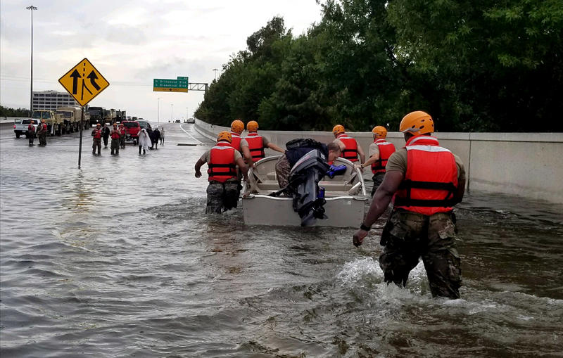 The Texas Army National Guard responds to Hurricane Harvey