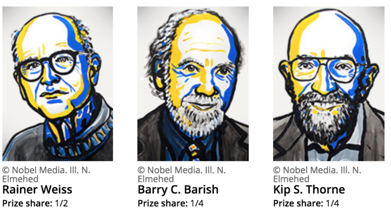 The winners of this year's Nobel Prize in physics.