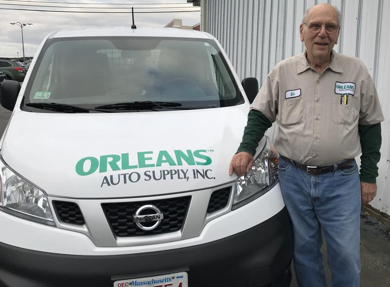 Ed DiGregorio, 77, has worked at Orleans Auto Supply for the past decade.