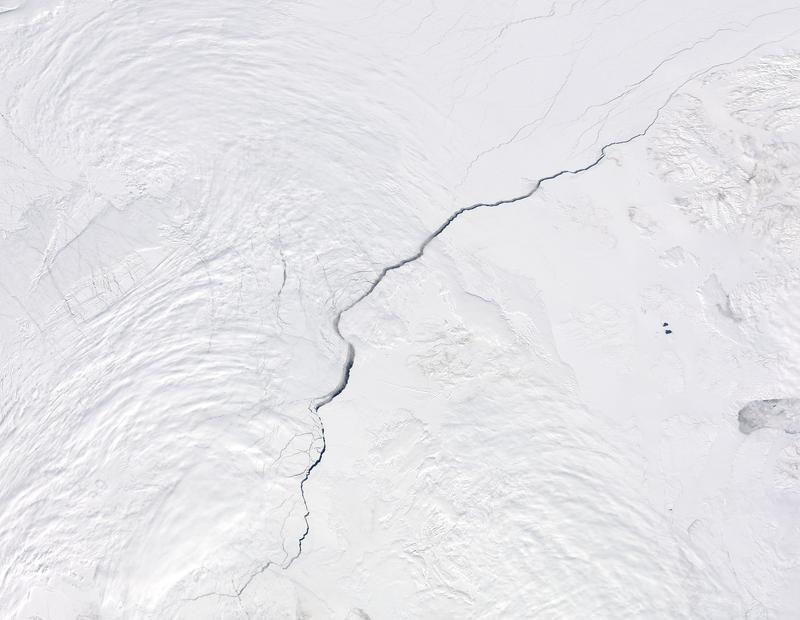 Open water in the Arctic Ocean