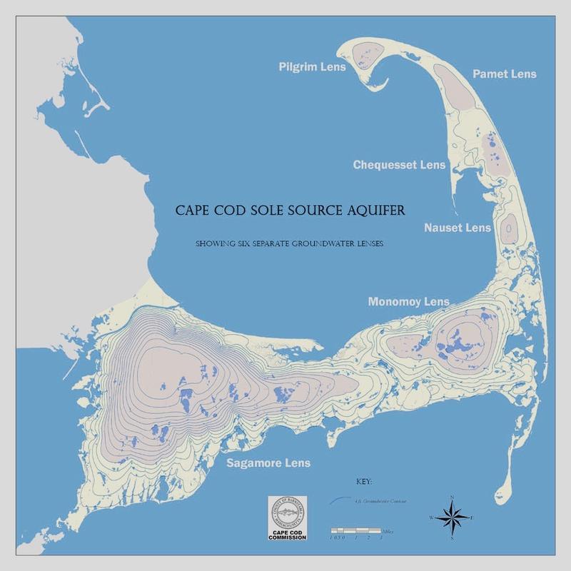 Map of Cape Cod Aquifer