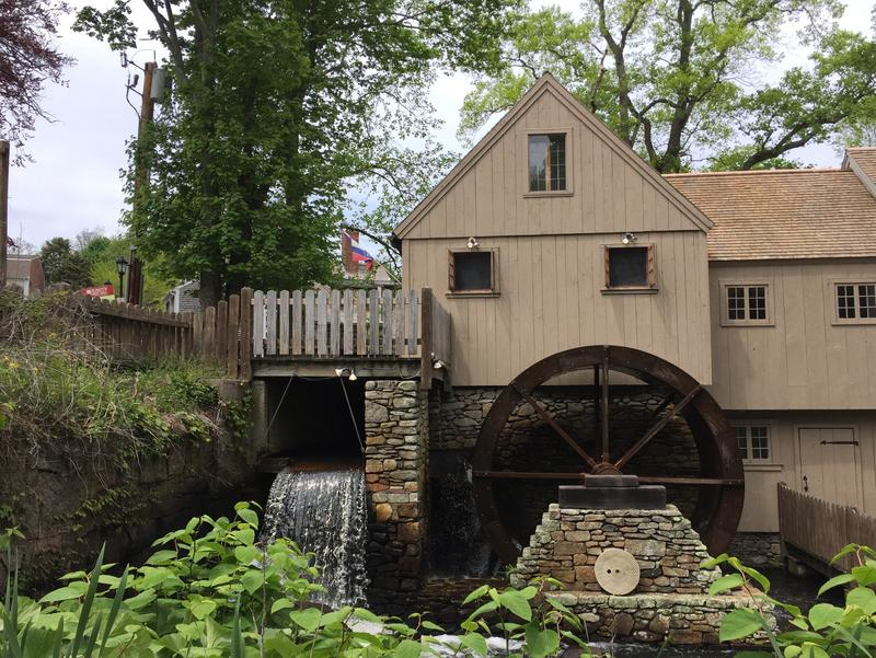 The Plimouth Grist Mill from the outside.