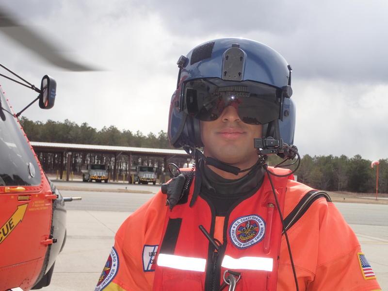 A Coast Guard Rescue Swimmer