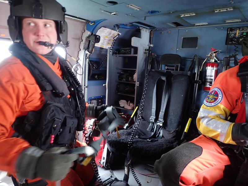 Coast Guard search and rescue crew