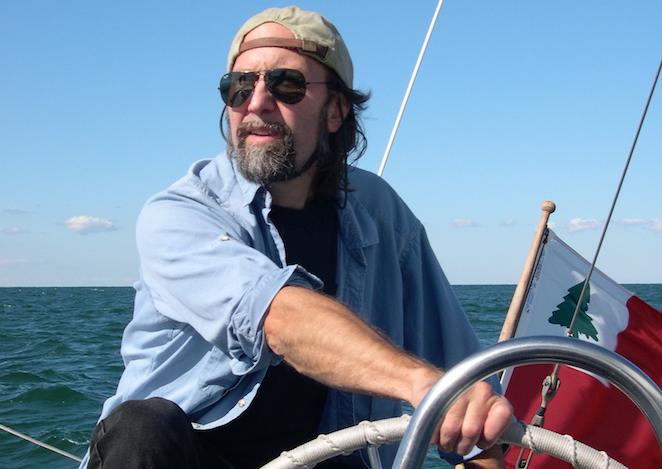 The author, sailing
