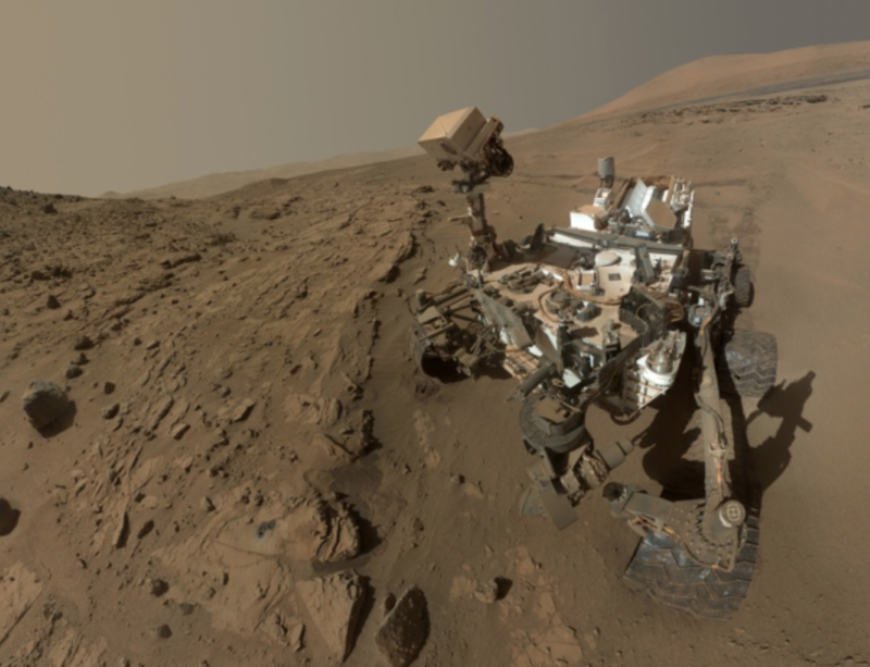 The Curiosity rover is sampling gas on Mars.