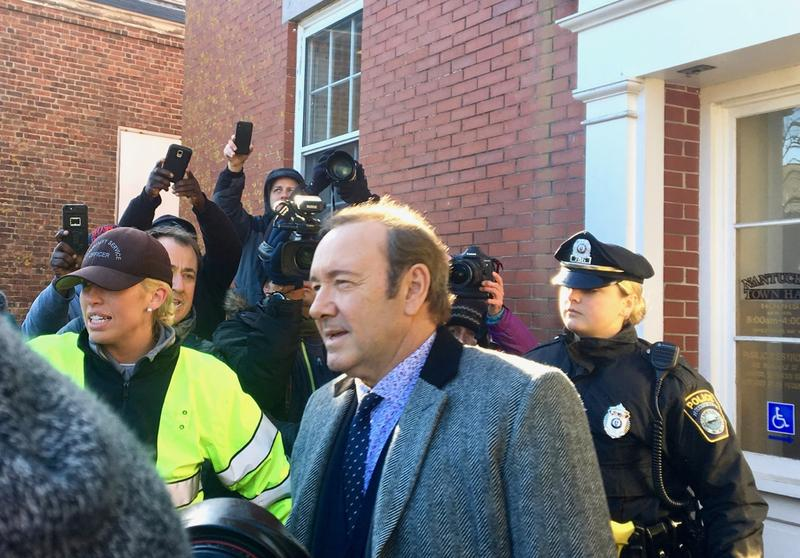 Actor Kevin Spacey appears at Nantucket District Court