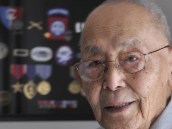 World War II veteran Wesley Ko at his Falmouth home.