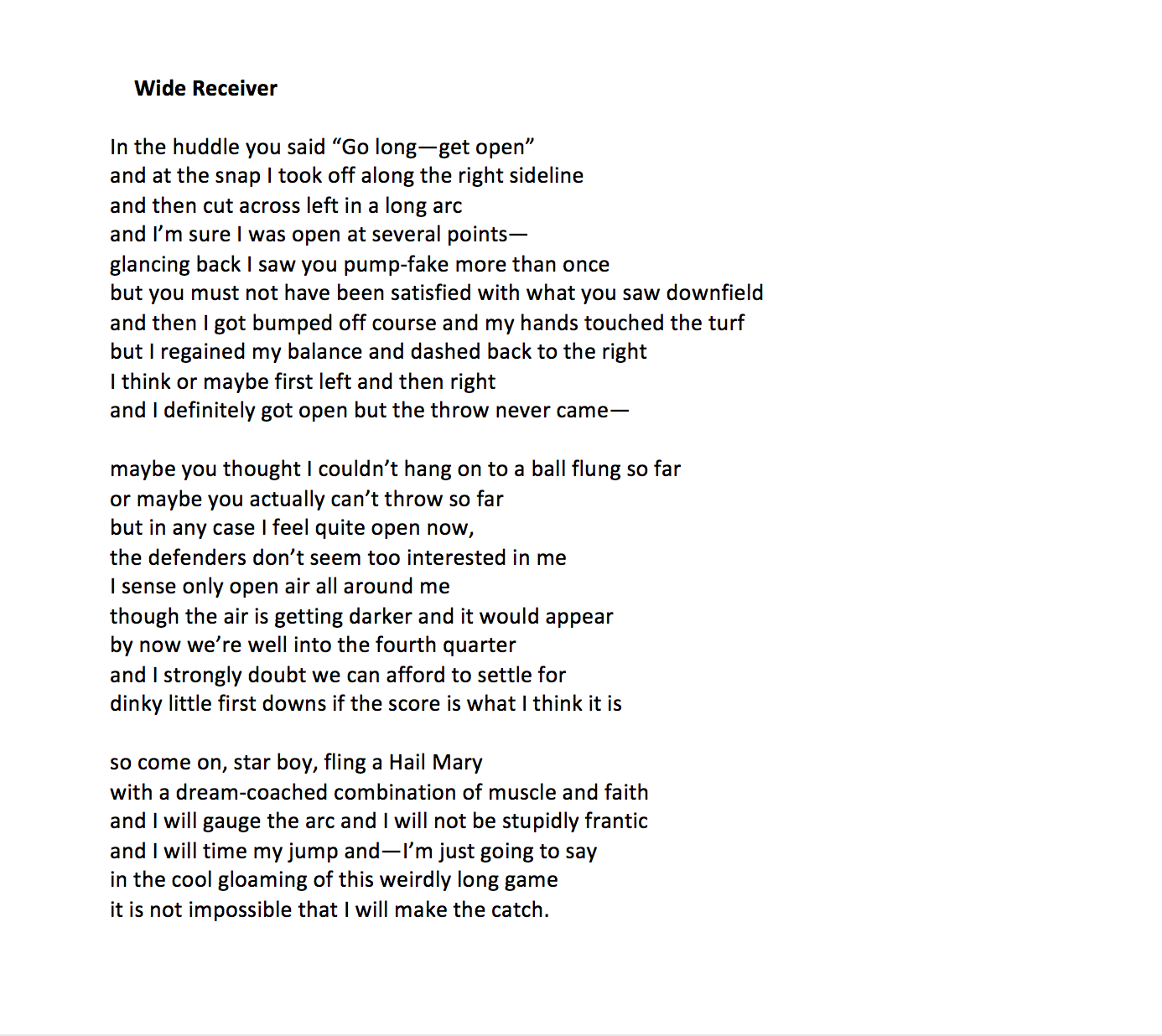 Poetry Sunday Mark Halliday WCAI - Impossible poem