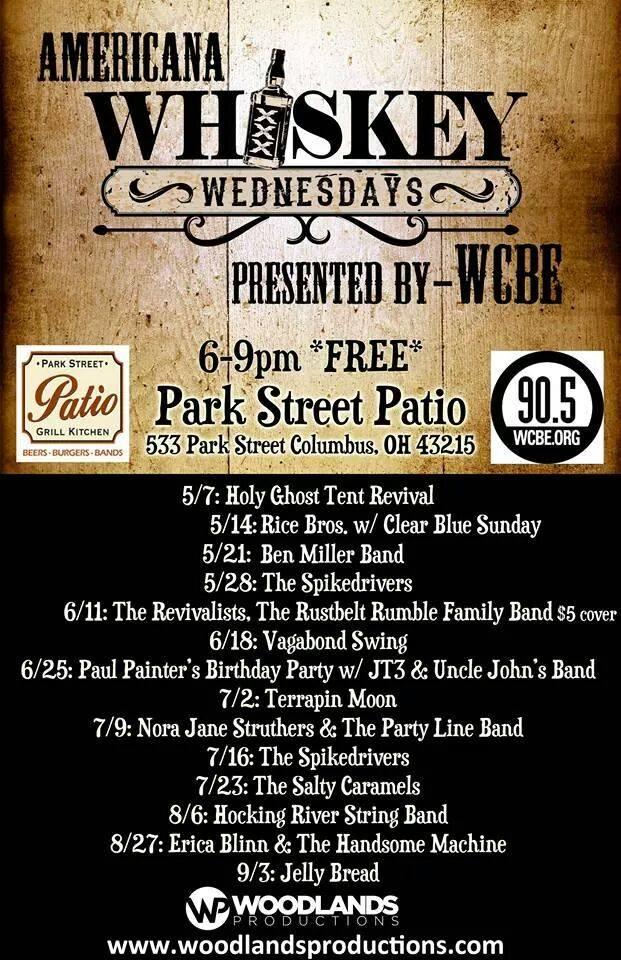 WCBE Presents Americana Whiskey Wednesdays @ Park Street Patio | WCBE 90.5  FM