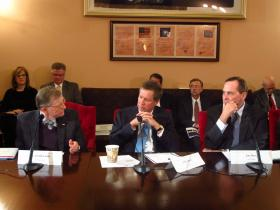 L to R - Gordon Gee, Governor Kasich and Jim Petro