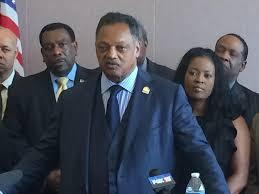 Reverend Jessie Jackson discussing his proposed voting rights amendment.