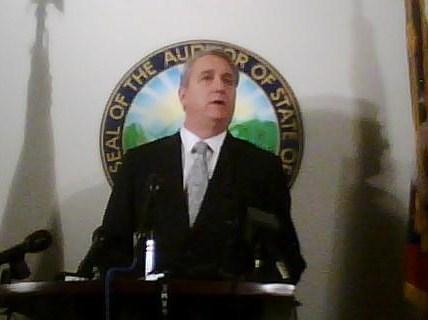 State Auditor David Yost, delivering attendance scrubbing preliminary report