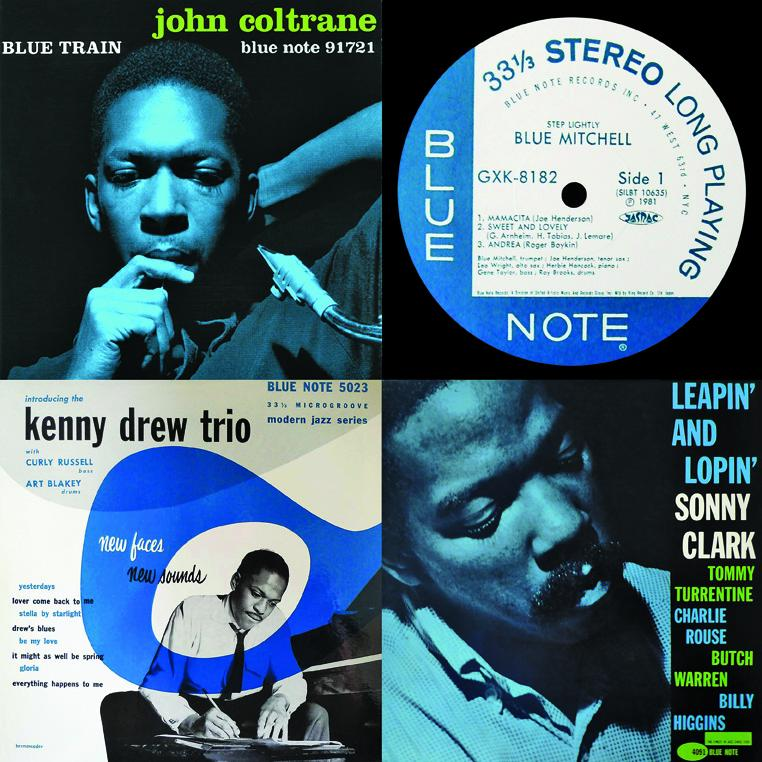 Various jazz musicians on the Blue Note record label.