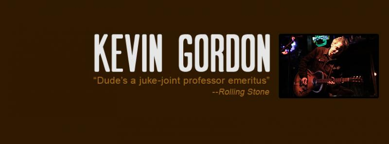 Kevin Gordon will perform Live From Studio A