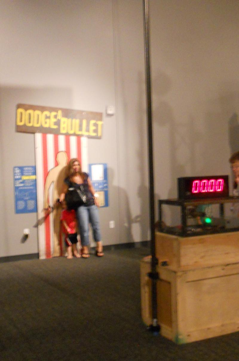 Dodge a Bullet at Mythbusters: The Explosive Exhibition