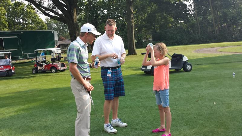 Malnati with Madeline and her dad Craig