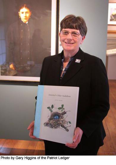 Joy M Kiser with her book, America's Other Audubon.