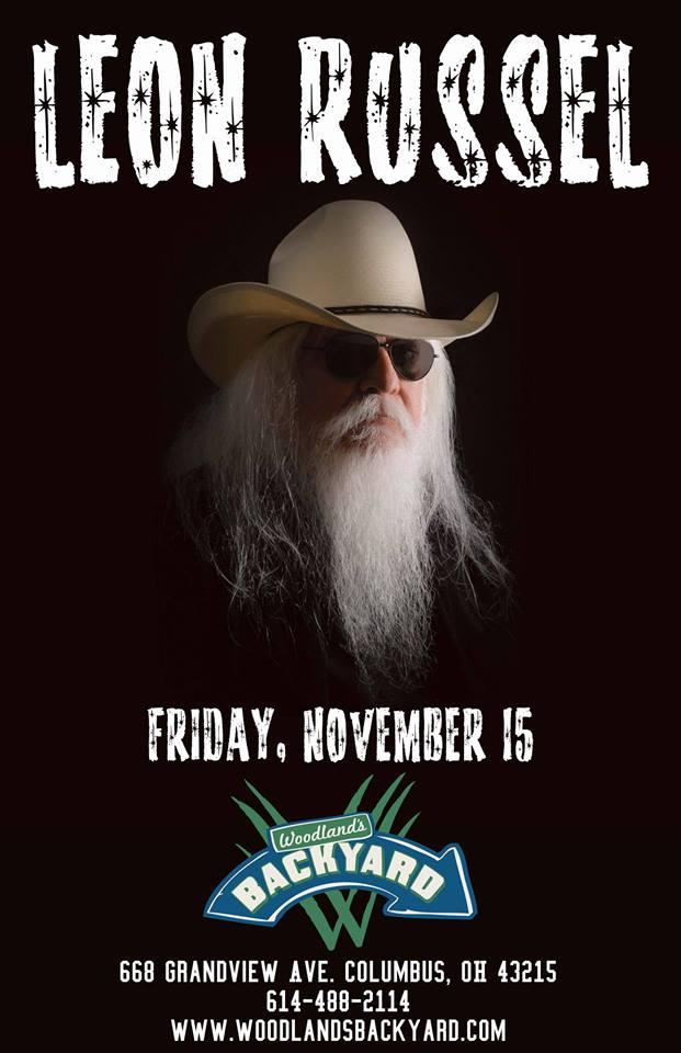 WCBE Presents Leon Russell @ Woodland's Backyard