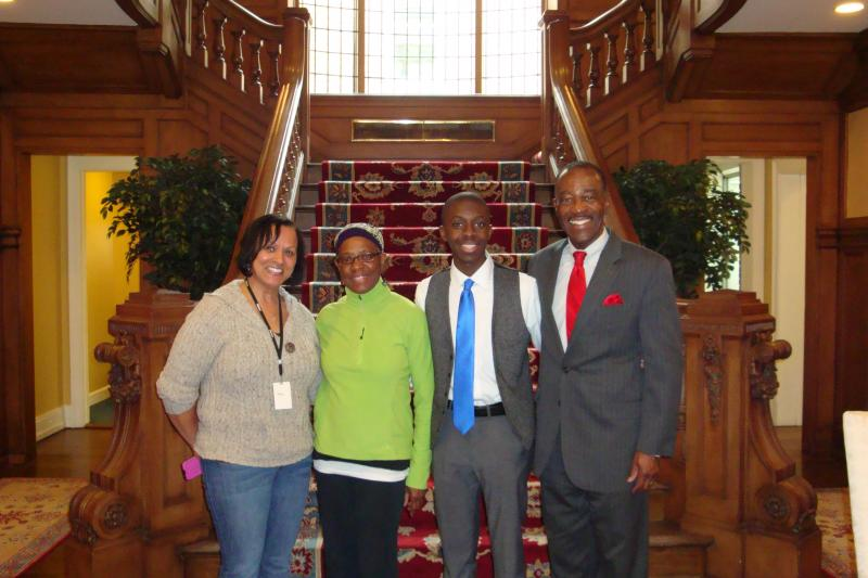 L-R:  Ms. Betty Hill-Church (Columbus City Schools), Ms. Kirk-Howell, Mr. Rivers and Mr. Marchbanks
