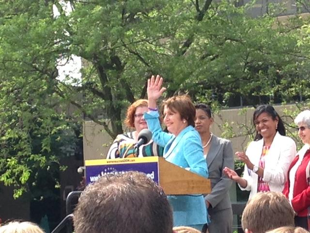 Nancy Pelosi at bus tour