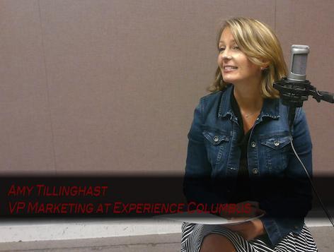 Amy Tillinghast in the WCBE studio