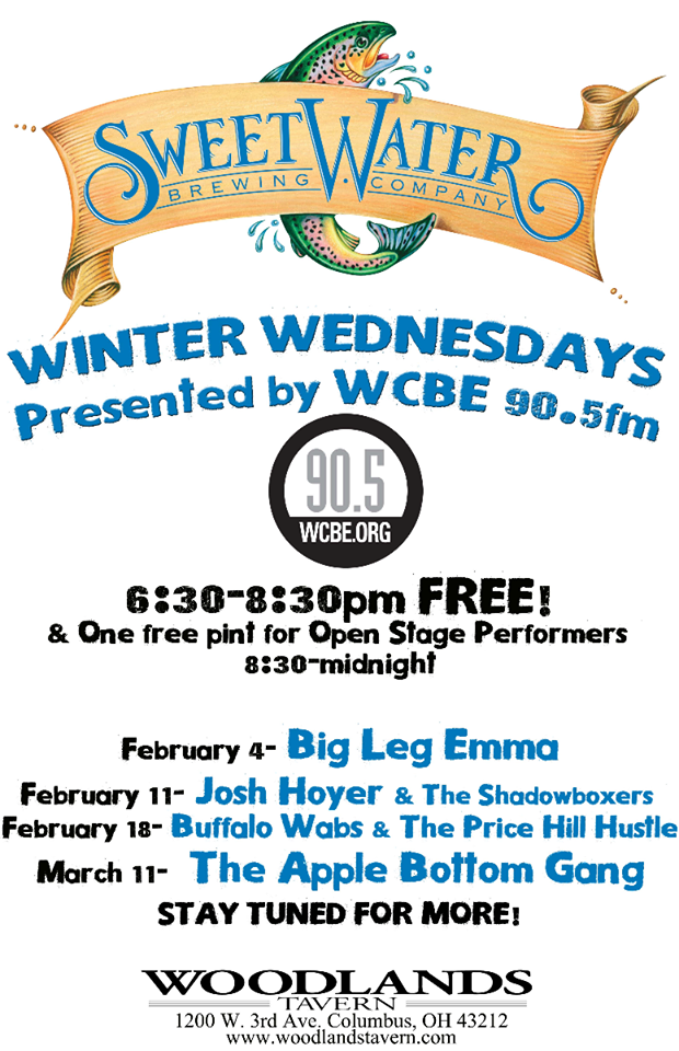 WCBE Presents SweetWater Winter Wednesdays @ Woodland's Tavern!