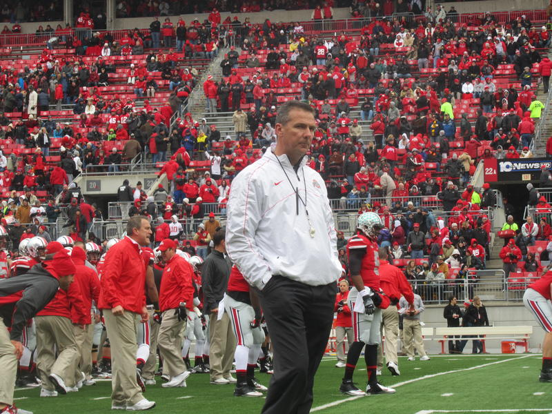 Urban Meyer from his first season at Ohio State