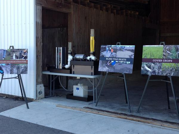 Display of nutrient management strategies during a state presentation in Perrysburg.