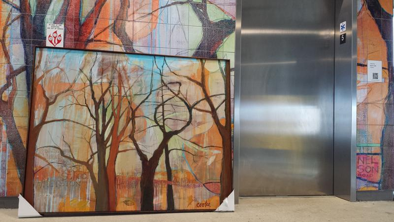 David Cooke's painting and tile mosaic Urban Parks