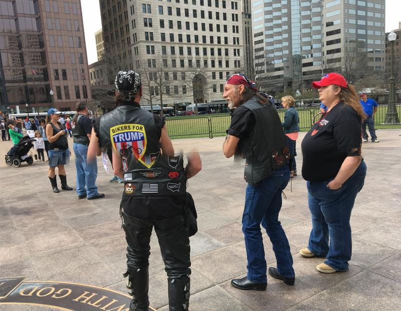Bikers supporting Trump at Statehouse rally