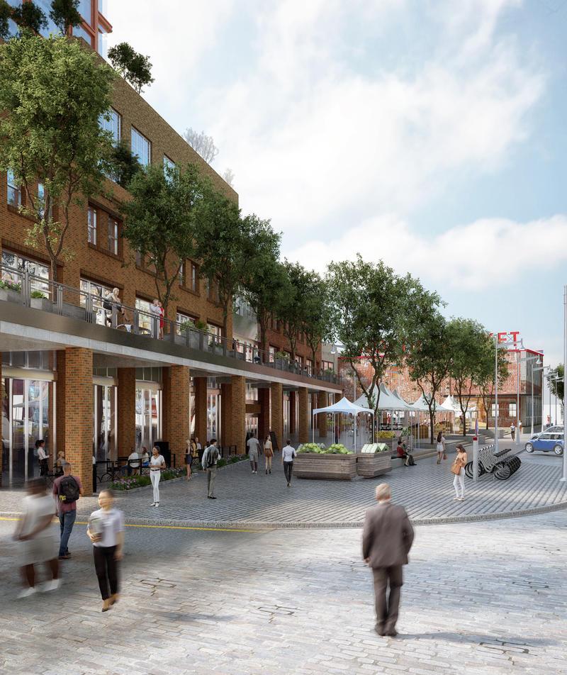 Plaza space rendering