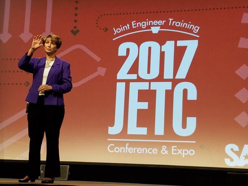 Eileen Collins delivers keynote address at JETC