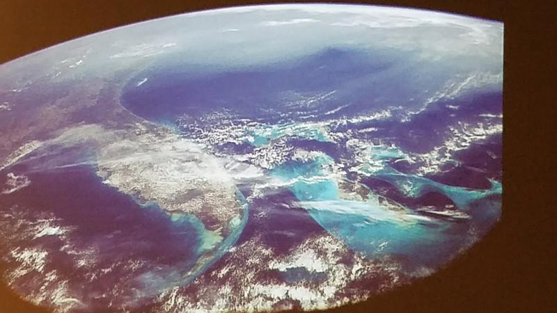 A view of Florida from space as shared by Collins during her keynote address