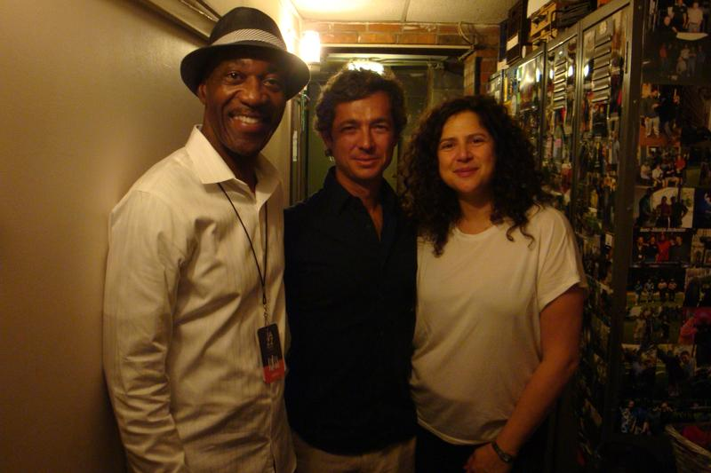 Jack, Vito Goncalves and Anat backstage at Cleveland's Ohio Theatre
