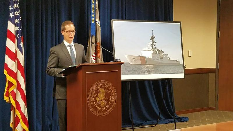 Ben Glassman, United States Attorney for the Southern District of Ohio, speaks at press conference