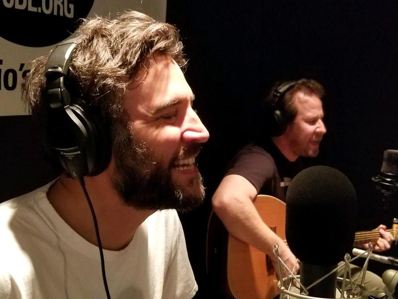 Josh Radnor and Ben Lee performing Live From Studio A
