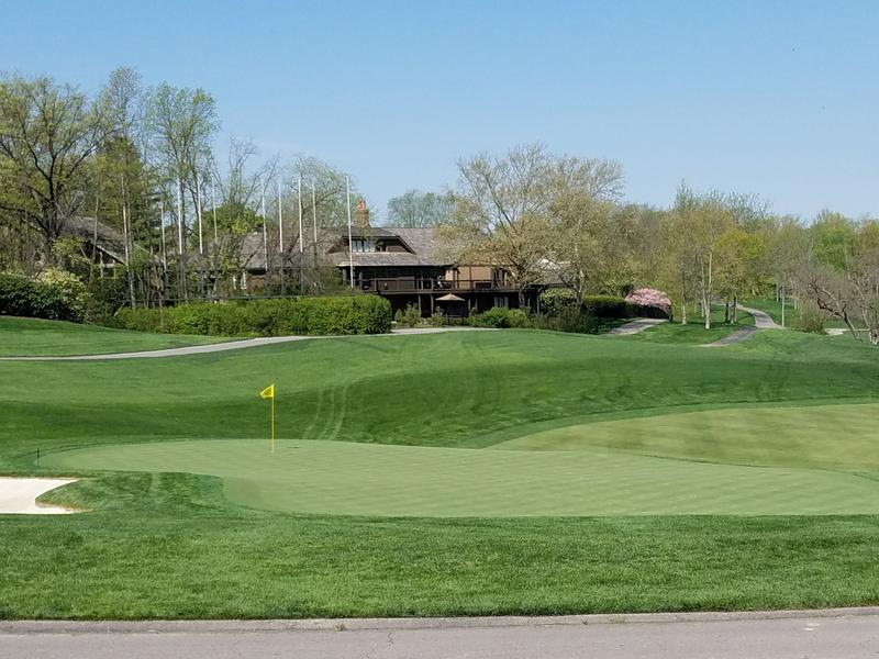 The 18th green at Muirfield Village, home of the Memorial Tournament